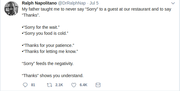 Tweet of DrRalphNap
